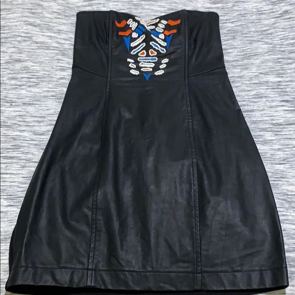 Astr Dresses & Skirts - ASTR Beaded, Faux Leather Dress